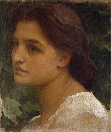 Portrait of a Young Lady (Vittoria), undated by Frederick Leighton | Painting Reproduction