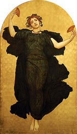 The Dance of the Cymbalists (Central Panel), undated von Frederick Leighton | Gemälde-Reproduktion