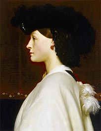 Augusta Hoare, undated by Frederick Leighton | Painting Reproduction