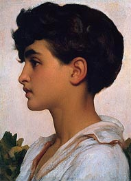 Portrait of Paolo, 1875 by Frederick Leighton | Painting Reproduction