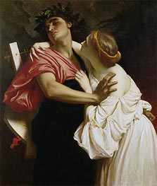Orpheus and Euridyce, 1864 by Frederick Leighton | Painting Reproduction