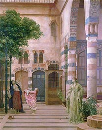 Old Damascus, Jewish Quarter (Gathering Lemons) | Frederick Leighton | Gemälde Reproduktion