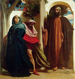 Jezebel and Ahab Met by Elijah, c.1862/63 by Frederick Leighton | Painting Reproduction