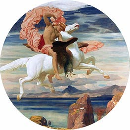 Perseus on Pegasus Hastening to the Rescue of Andromeda, c.1895/96 by Frederick Leighton | Painting Reproduction