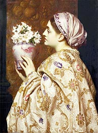 A Noble Lady of Venice, c.1865 by Frederick Leighton | Painting Reproduction