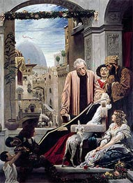 The Death of Brunelleschi, 1852 by Frederick Leighton | Painting Reproduction