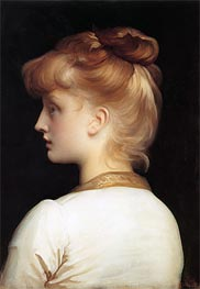 Profile of a Girl | Frederick Leighton | Painting Reproduction