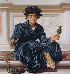 Weaving the Wreath | Frederick Leighton | Gemälde Reproduktion