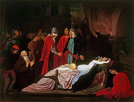 The Reconciliation of the Montagues and the Capulets over the Dead Bodies of Romeo and Juliet | Frederick Leighton | Gemälde Reproduktion