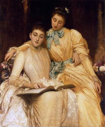 The Misses Stewart Hodgson, undated by Frederick Leighton | Painting Reproduction