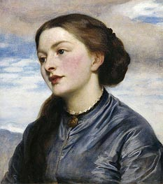 Mrs John Hanson Walker, 1867 by Frederick Leighton | Painting Reproduction