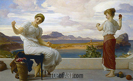 Winding the Skein, c.1878 | Frederick Leighton | Painting Reproduction