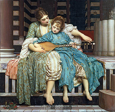 Music Lesson, 1877 | Frederick Leighton | Painting Reproduction