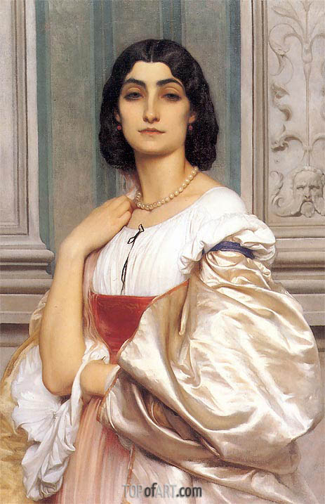 A Roman Lady (La Nanna), c.1858/59 | Frederick Leighton | Painting Reproduction