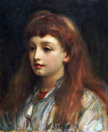 Portrait of a Young Girl, undated | Frederick Leighton | Gemälde Reproduktion