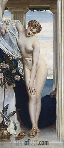 Venus Disrobing for the Bath, undated | Frederick Leighton | Gemälde Reproduktion