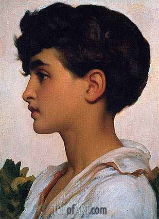 Portrait of Paolo, 1875 | Frederick Leighton | Painting Reproduction