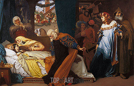 The Feigned Death of Juliet, c.1856/58 | Frederick Leighton | Gemälde Reproduktion