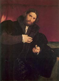 Man with a Golden Paw, c.1527 von Lorenzo Lotto | Gemälde-Reproduktion