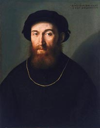 Bust of a Bearded Man, 1541 von Lorenzo Lotto | Gemälde-Reproduktion