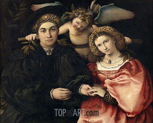 Micer Marsilio Cassotti and his wife Faustina, 1523 | Lorenzo Lotto | Painting Reproduction