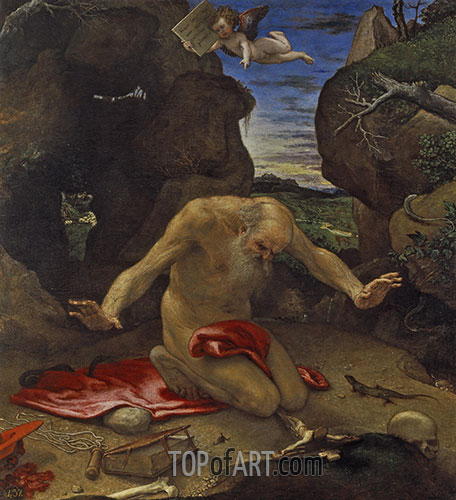 Saint Jerome in Penitence, 1546 | Lorenzo Lotto | Painting Reproduction