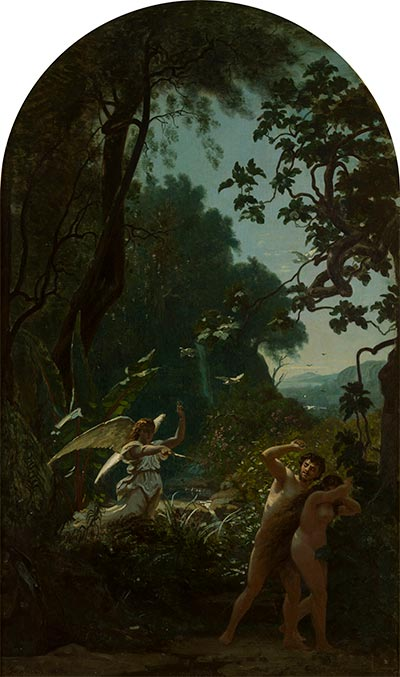 Adam and Eve Driven from Paradise, 1877 | Louis Français | Painting Reproduction