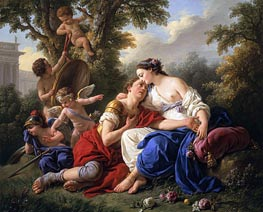Rinaldo and Armida, 1766 by Lagrenee | Painting Reproduction