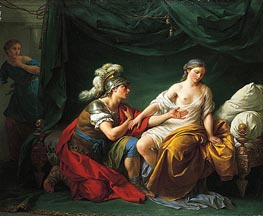 Alcibiades on His Knees Before His Mistress, c.1781 by Lagrenee | Painting Reproduction