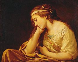Melancholy, undated by Lagrenee | Painting Reproduction