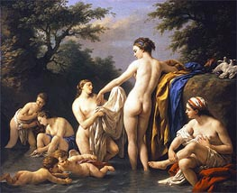 Venus and Nymphs Bathing, 1776 by Lagrenee | Painting Reproduction