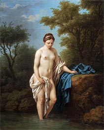 Young Lady at Bath, 1776 by Lagrenee | Painting Reproduction