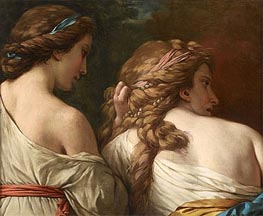 Two Nymphs, c.1765 by Lagrenee | Painting Reproduction
