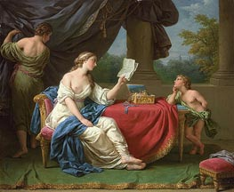 Penelope Reading a Letter from Odysseus, undated by Lagrenee | Painting Reproduction