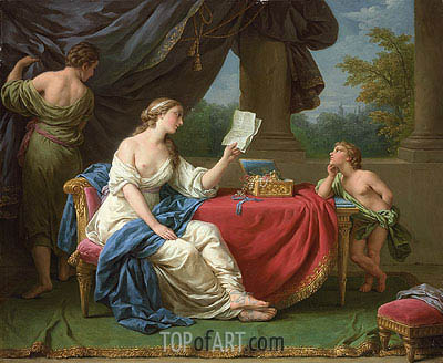 Penelope Reading a Letter from Odysseus, undated | Lagrenee | Painting Reproduction