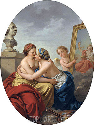The Union of Painting and Sculpture, 1768 | Lagrenee | Painting Reproduction
