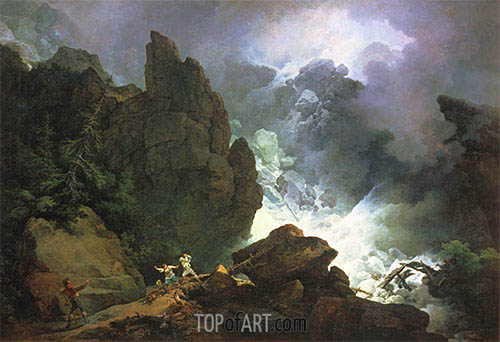 An Avalanche in the Alps, 1803 | de Loutherbourg | Painting Reproduction