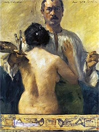 Self-Portrait with Model, 1903 by Lovis Corinth | Painting Reproduction