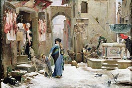 The Wolf of Gubbio, 1877 by Luc Olivier Merson | Painting Reproduction