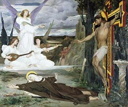 The Vision Legend of the 14th Century, 1872 by Luc Olivier Merson | Painting Reproduction