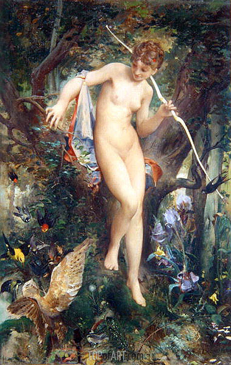 Diana, 1878 | Luc Olivier Merson | Painting Reproduction