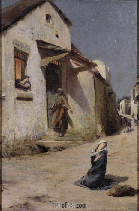 The Arrival at Bethlehem, 1897 | Luc Olivier Merson | Gemälde Reproduktion