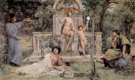 Truth, 1901 | Luc Olivier Merson | Painting Reproduction