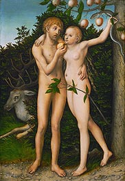 The Fall, a.1537 by Lucas Cranach | Painting Reproduction
