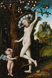 Cupid Complaining to Venus, c.1525 by Lucas Cranach | Painting Reproduction