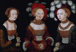 The Princesses Sibylla, Emilia and Sidonia of Saxony | Lucas Cranach | Painting Reproduction