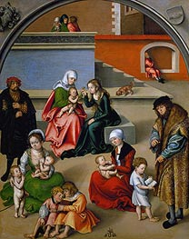 The Holy Kinship | Lucas Cranach | Gemälde Reproduktion