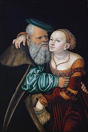 The Uneven Couple (The Old Lover) | Lucas Cranach | Gemälde Reproduktion