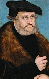 Portrait of Frederick the Wise, Elector of Saxony | Lucas Cranach | Gemälde Reproduktion