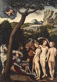 The Judgment of Paris, c.1528 by Lucas Cranach | Painting Reproduction